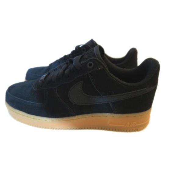 huge discount d85fc 59fc6 NWOB Women Nike Air Force 1 Low Black Suede 9.5